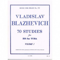 Blazhevich. 70 Estudios para Tuba Vol.1