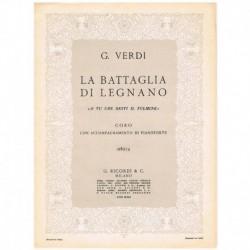 """Verdi. La Battaglia di Legnano O Tu Che Desti il Fulmine (Coro y Pian"""""""""""
