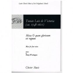 Victoria, Tomás Luis de. Missa O Quam Gloriosum Est Regnum (4 Voces/Piano)