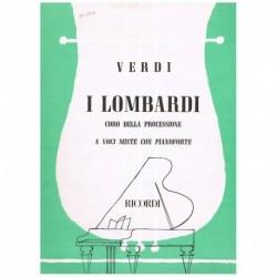 Verdi. Coro Della Processione (de I Lombardi) (Coro y Piano)