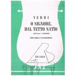Verdi, Giuseppe. O Signore, Dal Tetto Natio (I Lombardi) (Coro/Piano)