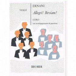 Verdi, Giuseppe. Allegri. Beviam (Ernani) (Coro/Piano)