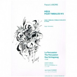 Laborie. Piece Pour Timbales Nº2 (4 Timbales, Platos Charles y Piano)
