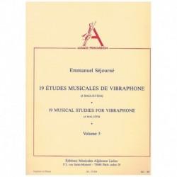 19 Estudios Musicales para Vibrafono (4 Baquetas) Vol.5