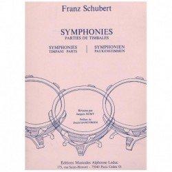 Schubert. Sinfonias. Partes de Timbales