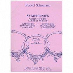 Schumann. Sinfonias y Concierto de Piano. Partes de Timbales
