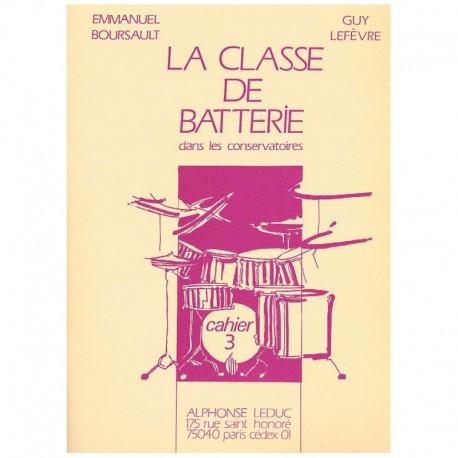 Boursault/Lefevre. La Clase de Bateria en los Conservatorios Vol.3