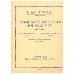 Delecluse. Cincuenta Ejercicios Diarios para Timbales