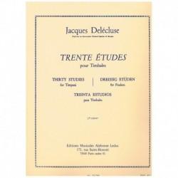 Delecluse, J Treinta Estudios para Timbales Vol.2