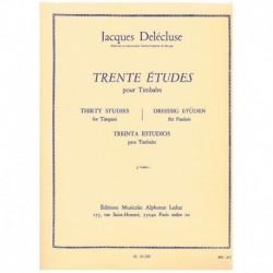 Delecluse, J Treinta Estudios para Timbales Vol.3