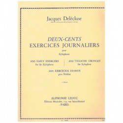 Delecluse. 200 Ejercicios Diarios para Xilofono Vol.1