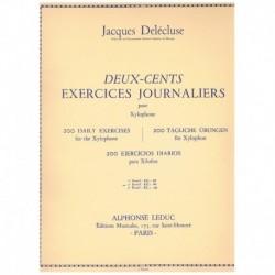Delecluse, J 200 Ejercicios Diarios para Xilofono Vol.2