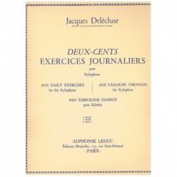 Delecluse, J 200 Ejercicios Diarios para Xilofono Vol.3