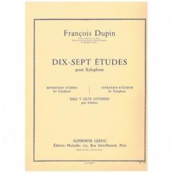 Dupin, Franç 17 Estudios para Xilofono