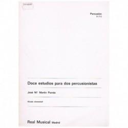 Martin Porrá Doce Estudios para 2 Percusionistas (Grado Elemental)