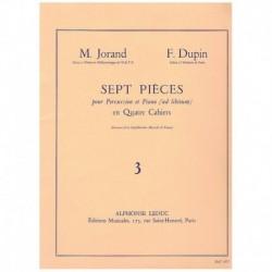 Jorand/Dupin 7 Piezas para Percusion y Piano Vol.3