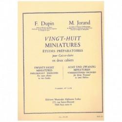 Dupin/Jorand 28 Miniaturas. Estudios Preparatorios para Caja Vol.1