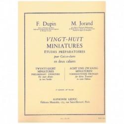 Dupin/Jorand 28 Miniaturas. Estudios Preparatorios para Caja Vol.2