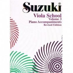 Suzuki Viola School (Acompañamiento Piano Vol.3)