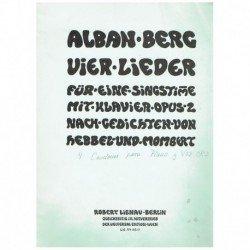 Berg, Alban. 4 Canciones...