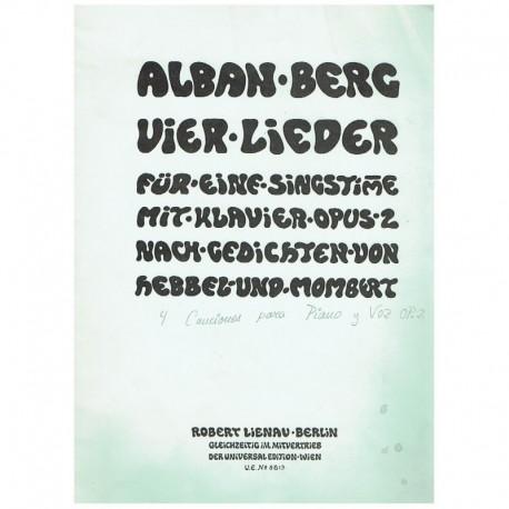 Berg, Alban. 4 Canciones Op.2 (Voz/Piano)