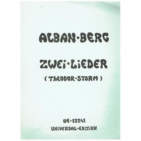 Berg, Alban. 2 Lieders (Voz/Piano)
