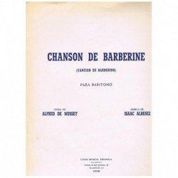 Albeniz/De Musset. Chanson...