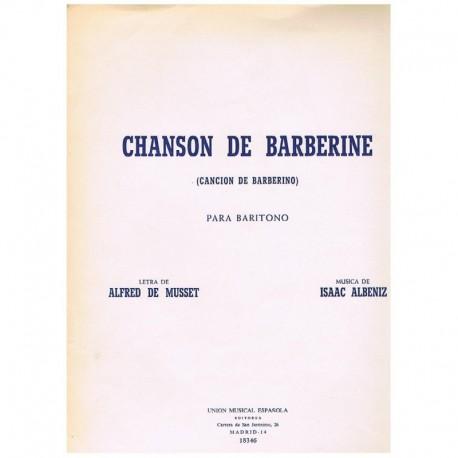 Albeniz/De Musset. Chanson de Barberine (Voz Baritono/Piano)