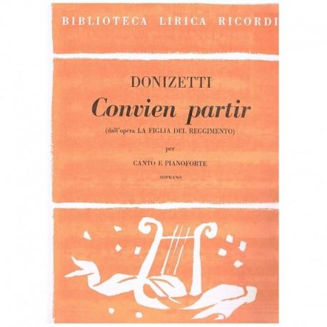 Donizetti, Gaetano. Convien Partir (La Hija del Regimiento) (Voz Soprano/Piano)