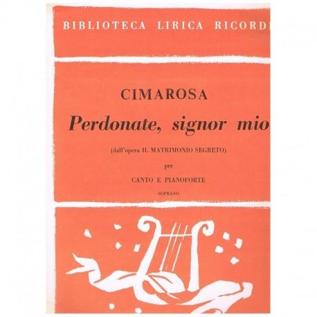 Cimarosa, Domenico. Perdonate, Signor Mio (Voz Soprano/Piano)