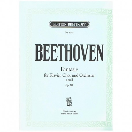 Beethoven. Fantasia Op.80 Do menor  (Voz/Piano)