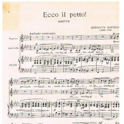 Marcello, Benedetto. Ecco il Petto! (Voz Soprano/Contralto/Piano)