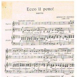 Marcello, Benedetto. Ecco...