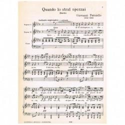 Paesiello, Giovanni. Quando lo Stral Spezzai (Duo Sopranos/Piano)
