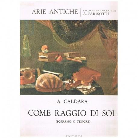 Caldara, Antonio. Come Raggio di Sol (Voz Soprano-Tenor/Piano)