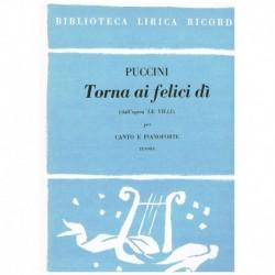 Puccini, Giacomo. Torna Ai...