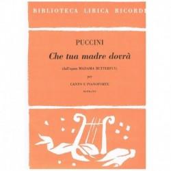 Puccini, Giacomo. Che Tua...
