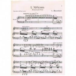 Meyerbeer, Giacomo. O Paradiso (La Africana) (Voz Tenor/Piano)