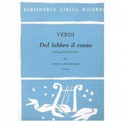 Verdi, Giuseppe. Dal Labbro...