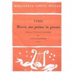 Verdi, Giuseppe. Morro, Ma...