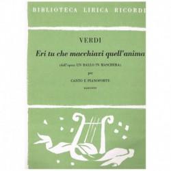 Verdi, Giuseppe. Eri Tu Che...