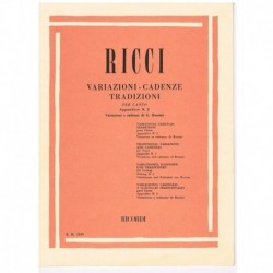Ricci, Luigi. Variaciones y Cadencias Apéndice nº2. Rossini