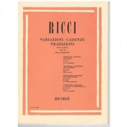 Ricci, Luigi. Variaciones y Cadencias Vol.2. Voces Masculinas