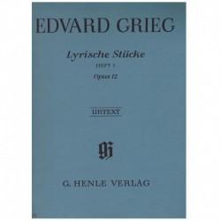 Grieg. Piezas Liricas Op.12 Vol.1 (Urtext)