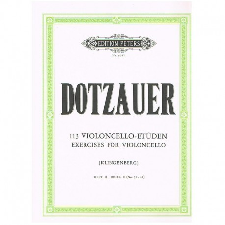 Dotzauer. 113 Ejercicios para Violoncello Vol.2 (35-62)