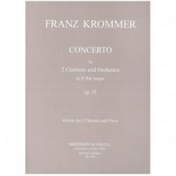 Krommer. Concierto Op.35 MIb Mayor (2 Clarinetes y Piano)