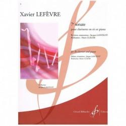 Lefevre. 7ᆰ Sonata (Clarinete SIb y Piano)