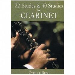 Rose. 32 Estudios & 40 Estudios (Clarinete)