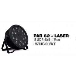 Foco LED Par 62+ Láser