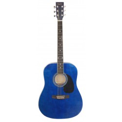 Daytona A 411 Guitarra Acustica Azul Brillo